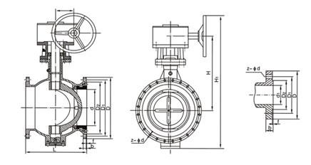上装式双偏心半球阀图片
